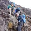 2016-09-29 Benson Tanzania Africa (Thu) Kilimanjaro Day 05 Barranco Wall - Tomboy near top 02
