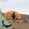 2016-09-29 Benson Tanzania Africa (Thu) Kilimanjaro Day 05 Karanga Camp - Edward at dinner tent