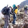 2016-09-29 Benson Tanzania Africa (Thu) Kilimanjaro Day 05 Barranco Wall - Pete Tito near top 01