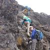 2016-09-29 Benson Tanzania Africa (Thu) Kilimanjaro Day 05 Barranco Wall - Missy near top 01