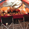 2016-10-02 Benson Tanzania Africa (Sun) Kilimanjaro Day 08 Hike out - Crew Kili inside dining tent