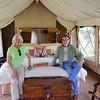 2016-10-05 Benson Tanzania Africa (Wed) Safari Serengeti - Tent interior Jo Bob on bed