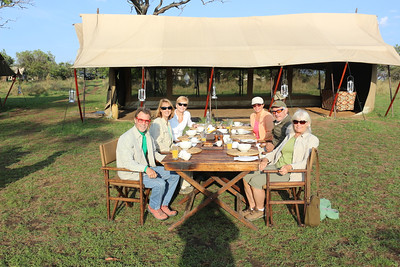 2016-10-07 Benson Tanzania Africa (Fri) Safari Day 13 Serengeti Under Canvas - Crew Serengeti at breakfast