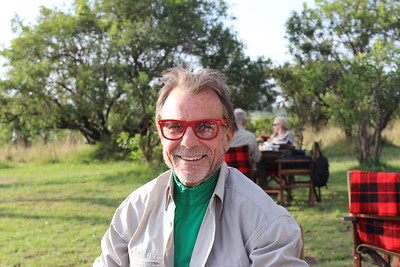 2016-10-07 Benson Tanzania Africa (Fri) Safari Day 13 Serengeti Under Canvas - Bob at Breakfast