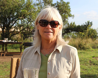 2016-10-07 Benson Tanzania Africa (Fri) Safari Day 13 Serengeti Under Canvas - Jo at breakfast