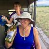 2016-10-08 Benson Tanzania Africa (Sat) Safari Day 14 Serengeti Grumeti - Muddy road - Stuck with cocktails Debba Theresa