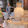 2016-10-12 Benson Istanbul Day 02 - Hagia Sophia Jo and guide w vase
