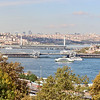 2016-10-13 Benson Istanbul Day 03 - Topkapi Palace View of the Galacta Bridge and the Golden Horn