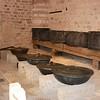 2016-10-13 Benson Istanbul Day 03 - Topkapi Palace Kitchen w Jo observing very large pots