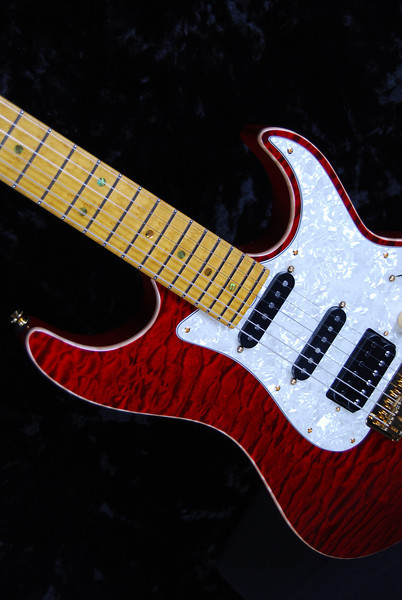 Bent Top, Trans Red, SSH Pickups
