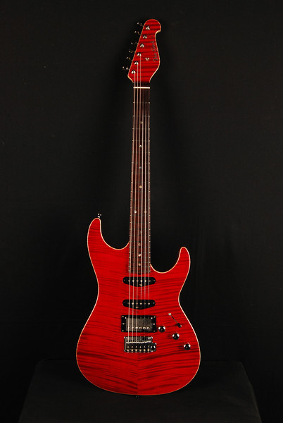 Don Grosh Hollow Bent Top in Bordeaux Red, SSH Pickups