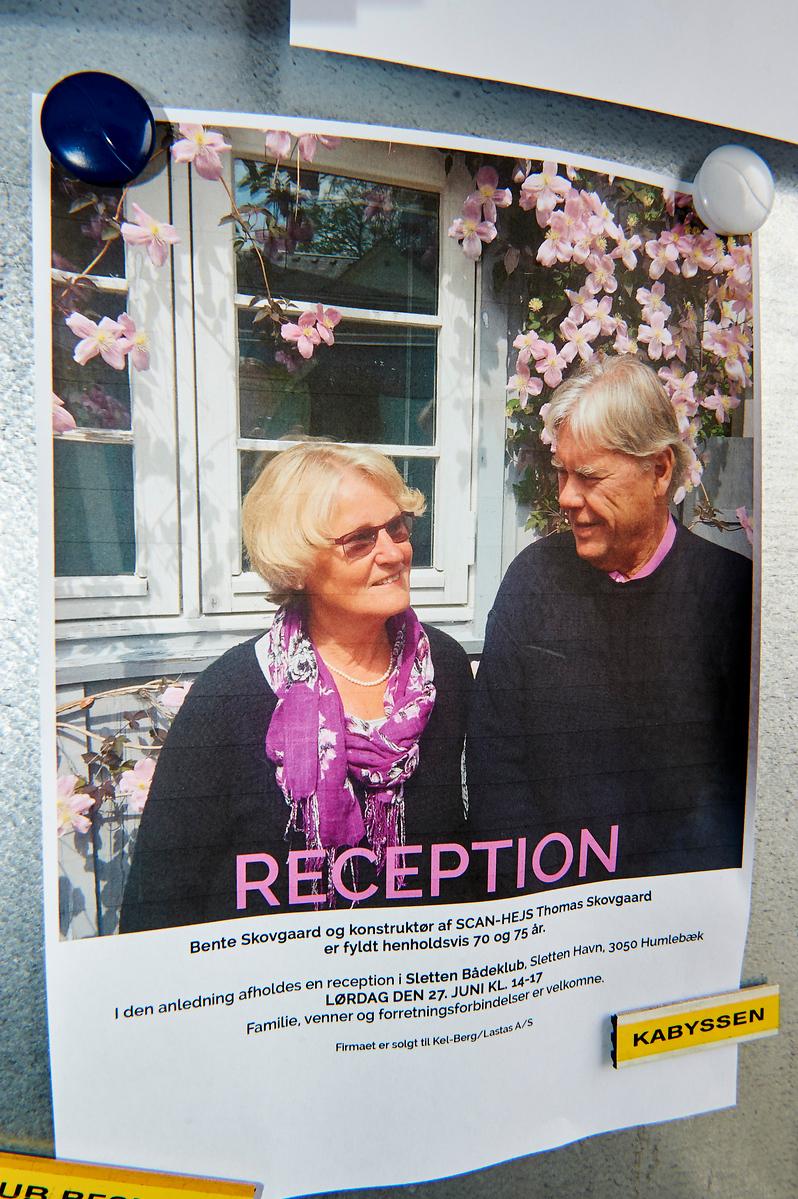 Bente & Thomas Skovsgaards reception i Sletten Bådeklub