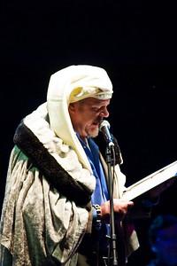 Shannon Burk as Ebenezer Scrooge