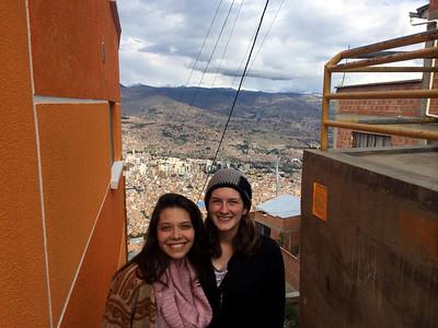 Benyapa and Kate in El Alto, La Paz