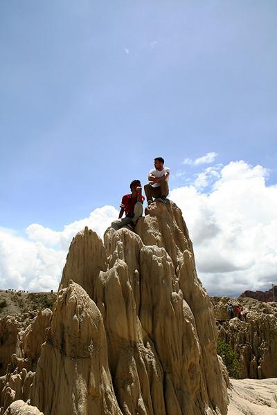 Rizky and Zach at Valle de la Luna