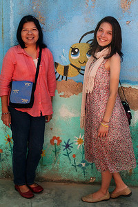 Mom and me at Claudia's preschool