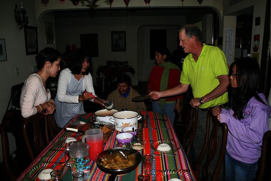 Thai dinner with the Green Jordán family