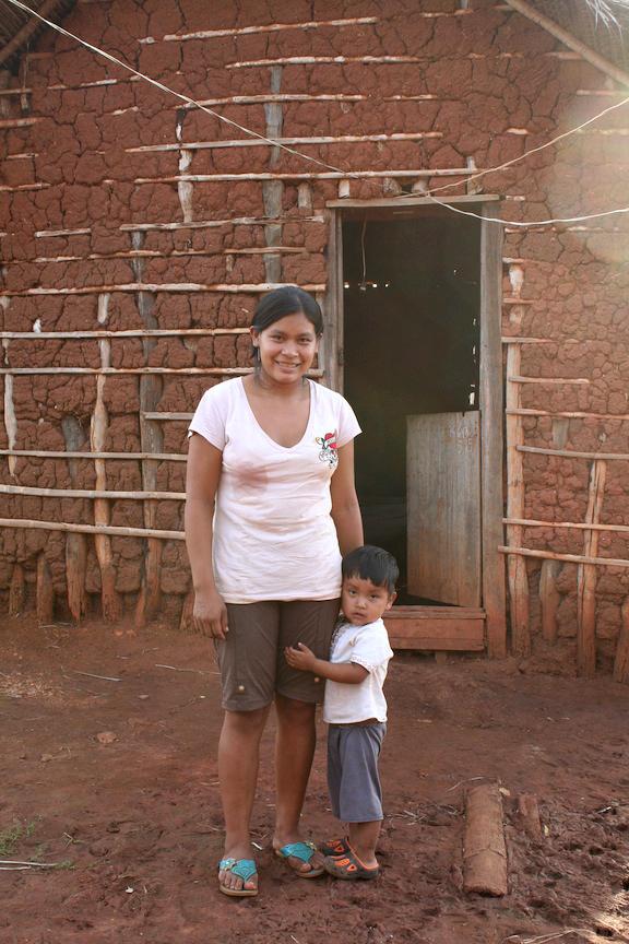 Host sister, Teresa, with her son, Christian