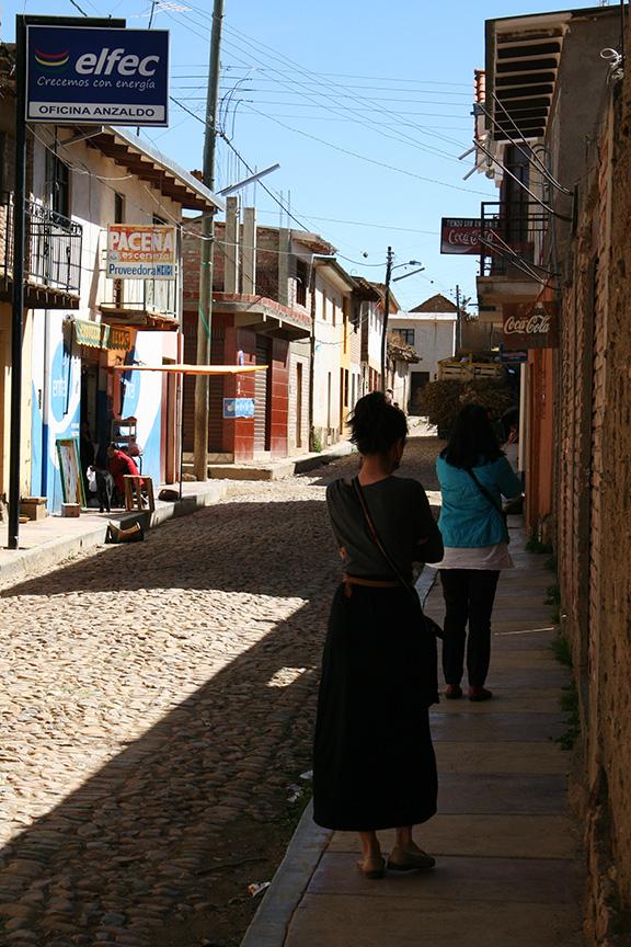 Me and my mom walking through Anzaldo