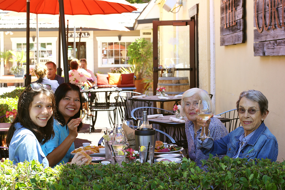 Celebrating Betty's 93rd Birthday with mom, Gran, and dad (the photographer)