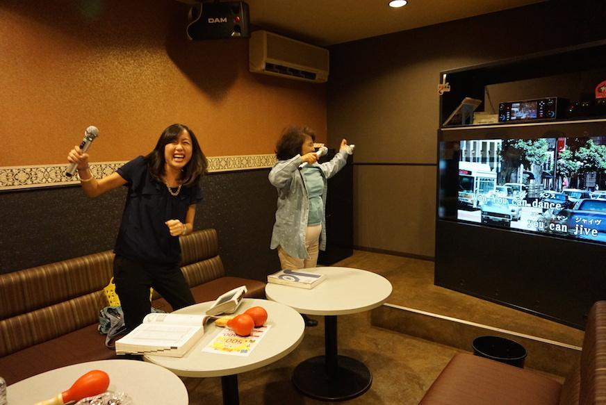 Karaoke with Megan and Sumiko