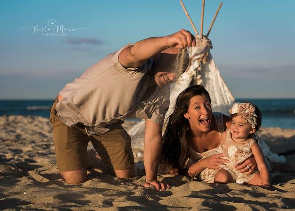 Berardi Family on Beach