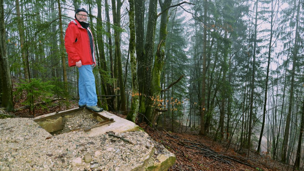JB Standing On a Cistern for the Berghof