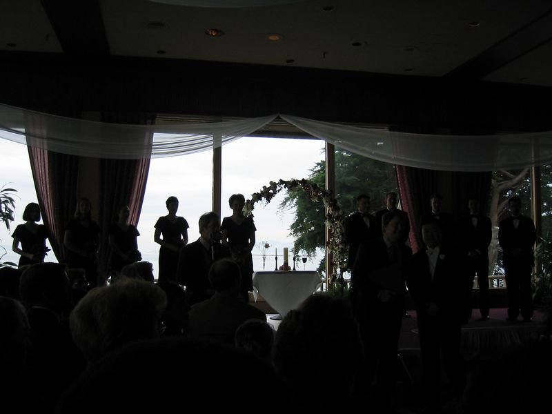 16 - Backlit bridal party @ alter