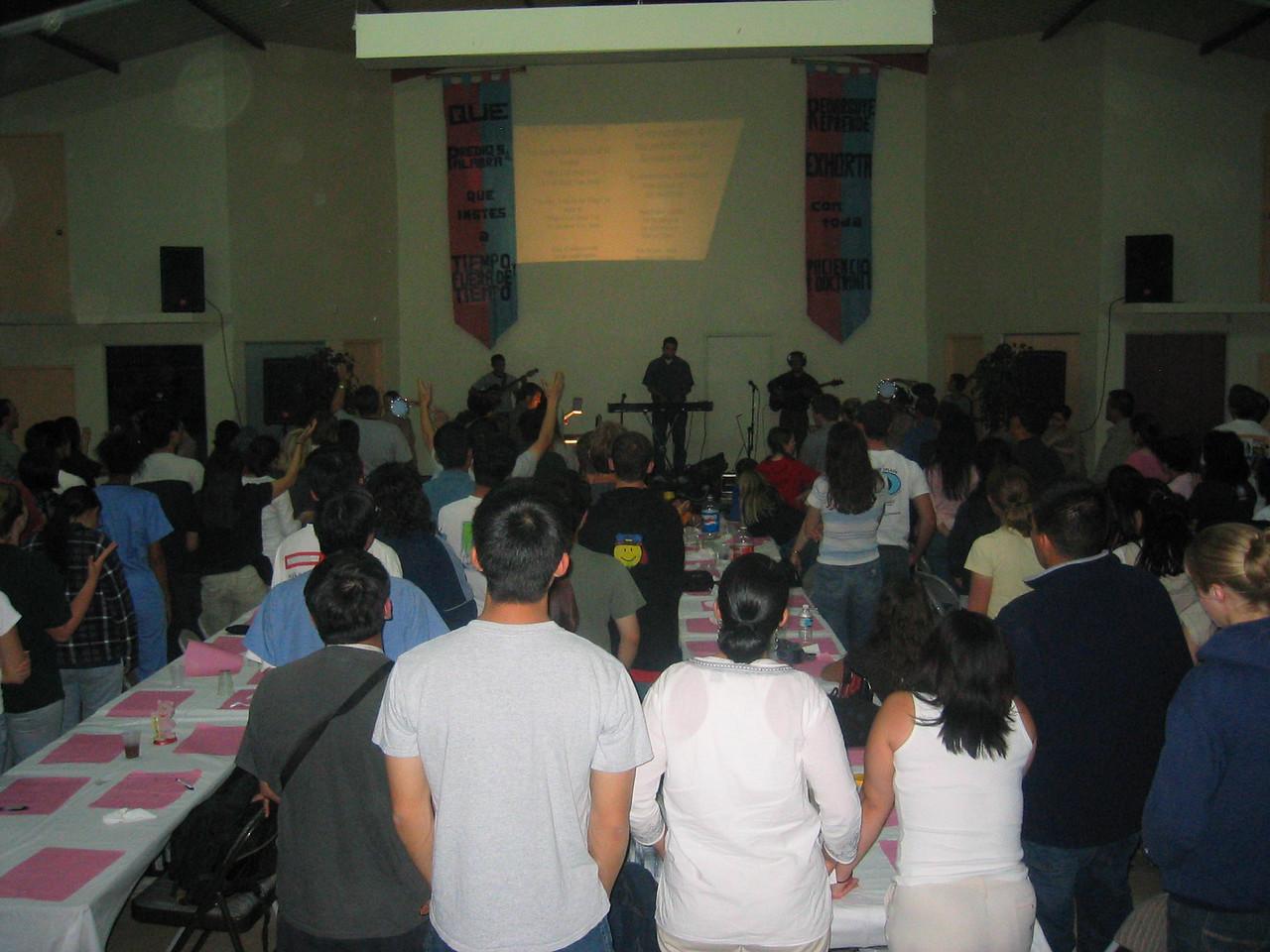 2004 05 30 Sunday night - Hosting church dinner music worship