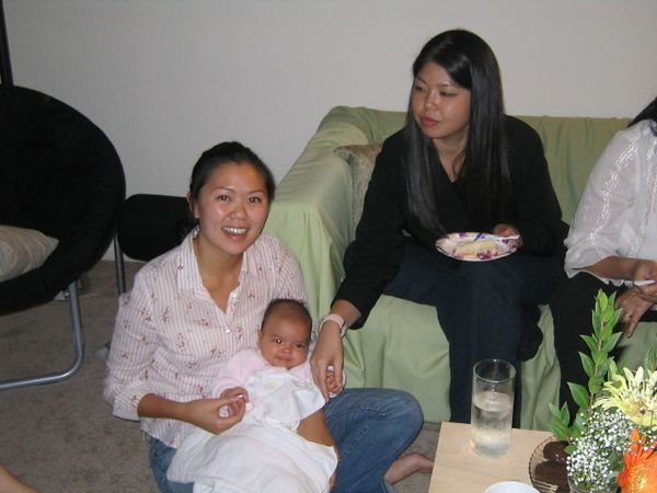 2004 08 23 Monday - Rhonda's 23rd birthday - Tiffany Louie, Baby Kira Ka-Yun Lee, & Evelyn