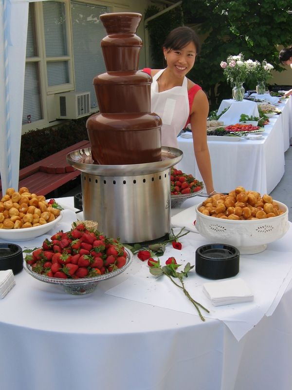 Robin Chang & Chocolate Fountain