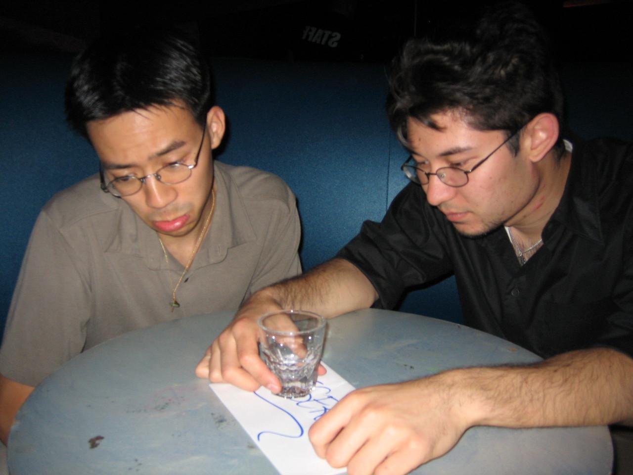 2005 06 04 Saturday - Velvet Lounge - Ben Yu & Kyle Lessler drowning their sorrows