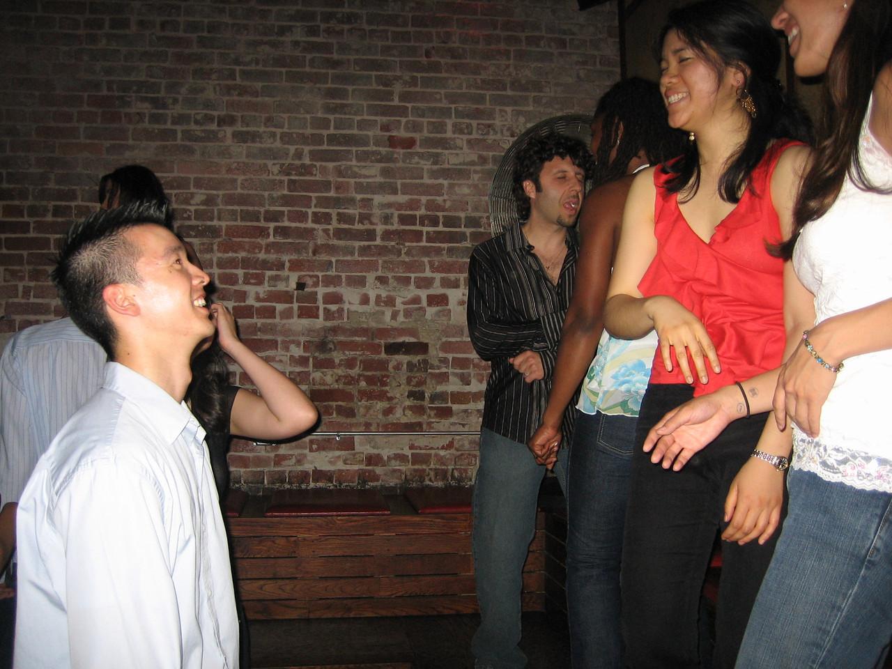 2005 06 04 Saturday - Dragon Bar - Brian Chew ogles the stage ladies