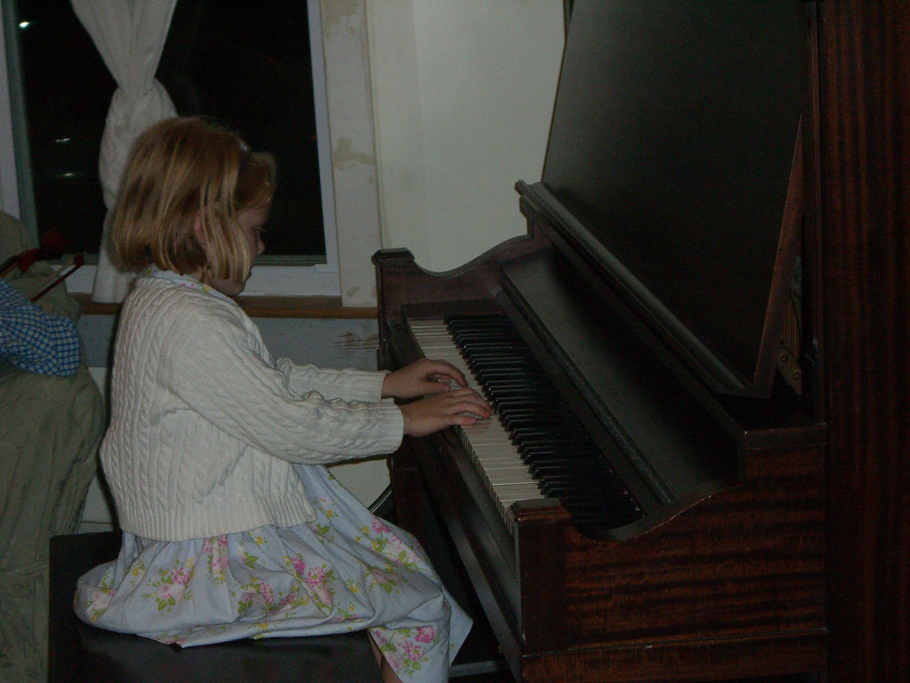 Mary Clifford at the piano