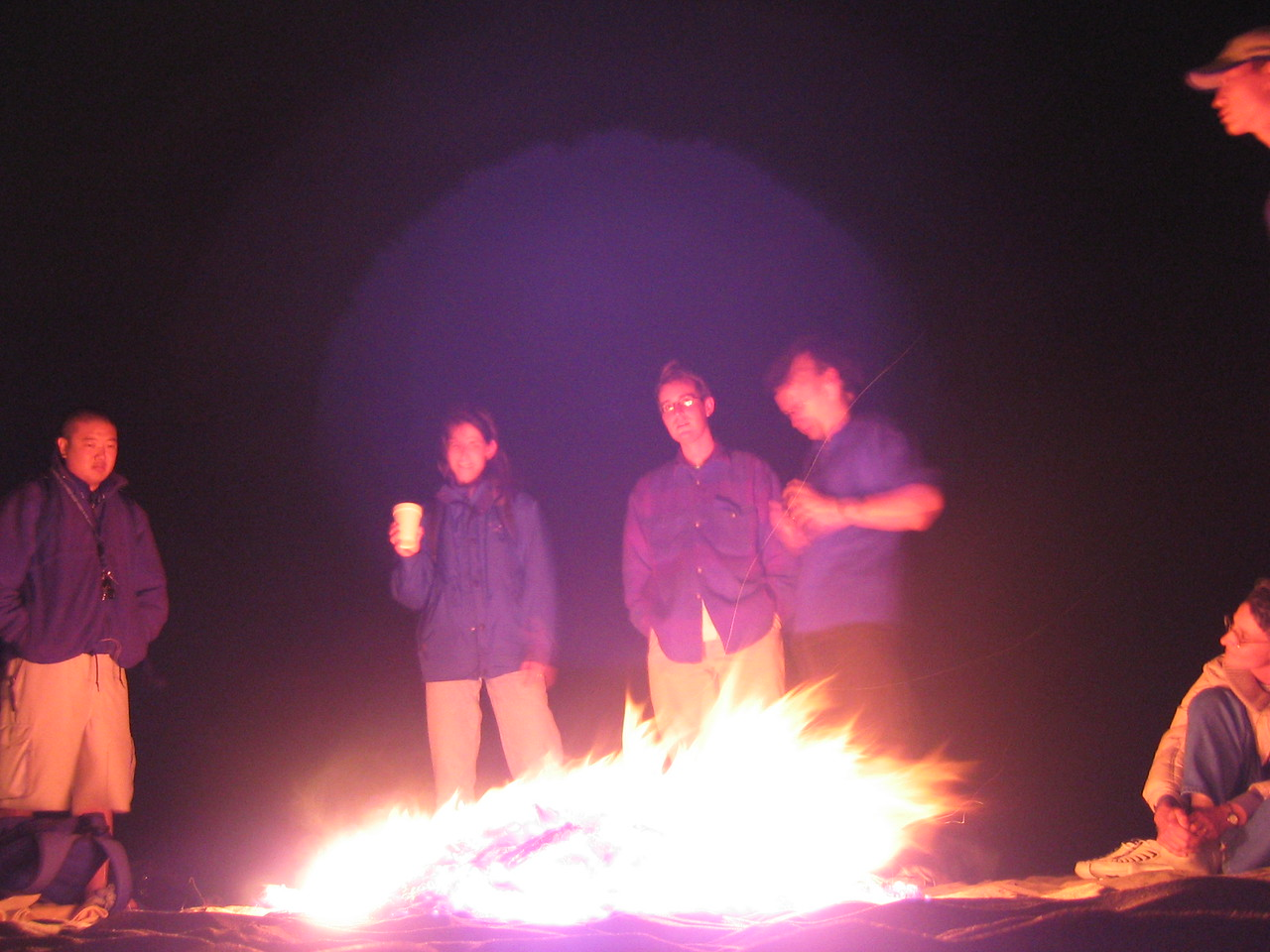 Saying so around fire - Group 2 overexposed