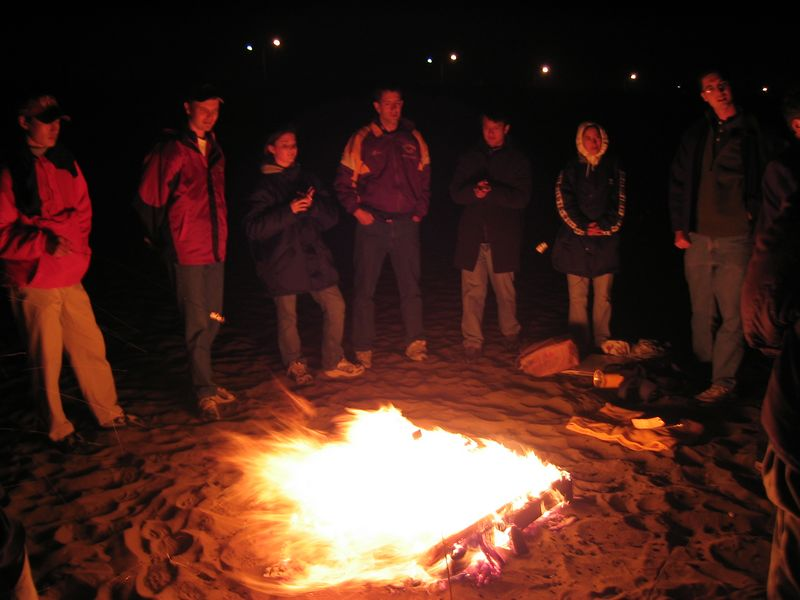 Saying so around fire - Group 1