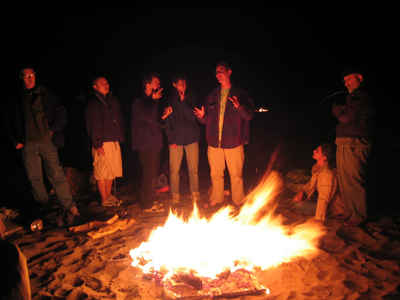 Saying so around fire - Group 2