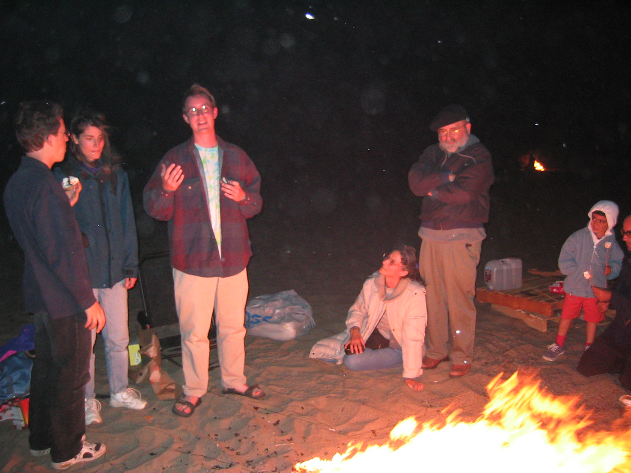 Saying so around fire - Group 2 with flash