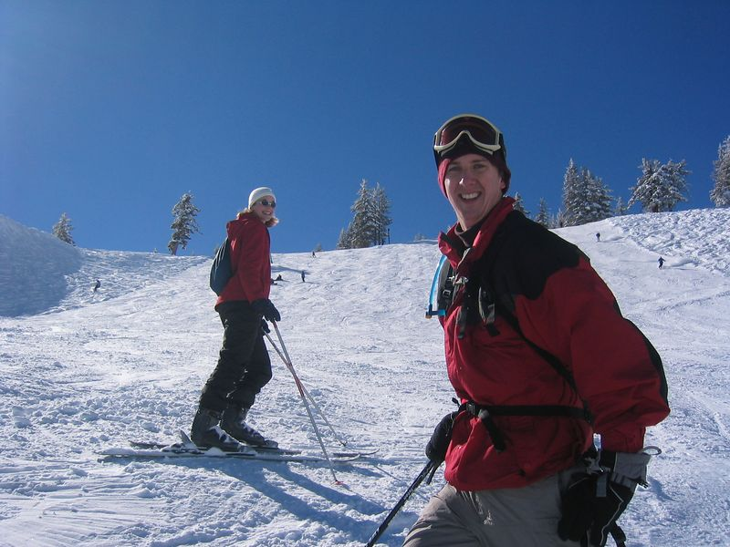 2005 01 29 Saturday - Lisa & Matt on the slopes