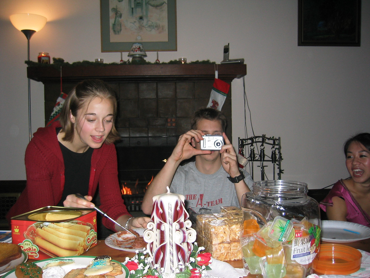 2004 12 12 Sunday - Community Group Christmas Party Camera showdown @ Lisa Nelson's