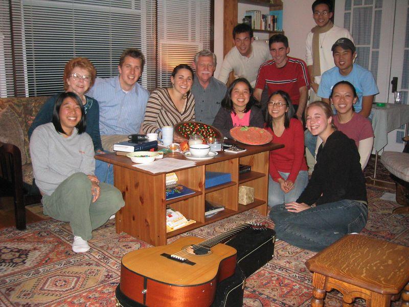 2004 10 27 Wednesday - Matt & Lisa's community group pic sans many