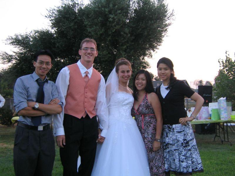 2005 08 13 Saturday - Mosaic Group Pic 1 @ Steve Baehr & Hannah Roy's wedding