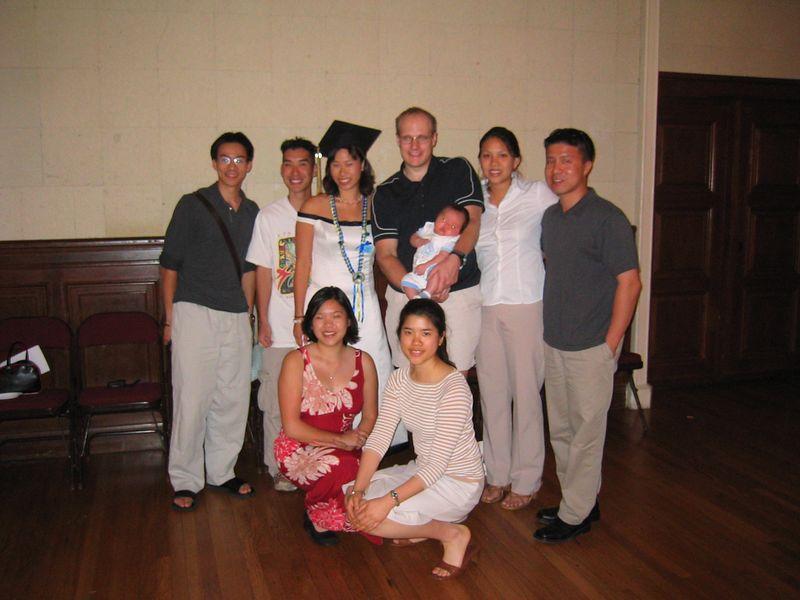 2004 05 16 Sunday - Robin Chang's grad ceremony 1