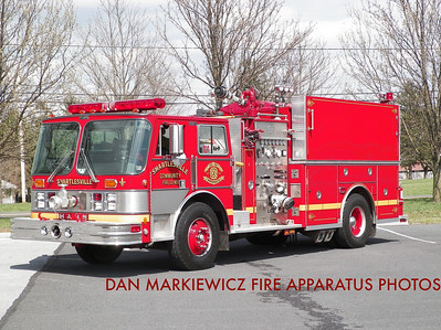 SHARTLESVILLE COMMUNITY FIRE CO. ENGINE 41-2 1988 HAHN/99 EAST PENN PUMPER/TANKER
