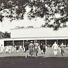 Tanglewood Festival crowds enter The Shed, newly open in 1938.