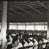 Berkshire Symphonic Festival patrons enjoy The Shed, newly opened on the Tanglewood grounds in 1938.