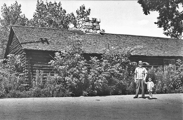 A replica of Fort Massachusetts, exact down to the stockade fence and collateral budildings was constructed with WPA funds. The last building, seen here, was torn down in the early 1970s.