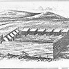 An old woodcut of Fort Massachusetts in North Adams.