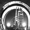 In this photo from July 1979, a crew of 13 installs a steel liner in the Hoosac Tunnel. Photo by Joel Librizzi. Berkshire Eagle Archives