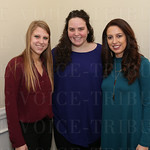 Olivia Wrocklage, Alyssa Robinson and Kelly Burkhead.
